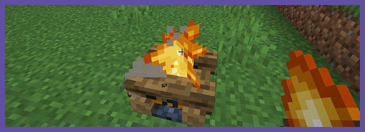 Мод Healing Campfire