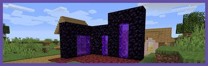 Smaller Nether Portals Мод