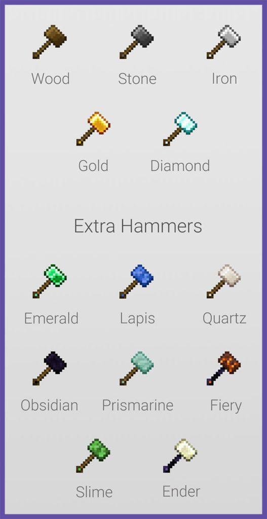 Мод Vanilla Hammers